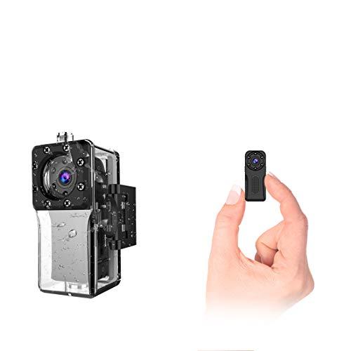 wasserdichte WLAN Mini Kamera,NIYPS Full HD 1080P Kleine Überwachungskamera, Mikro WiFi Nanny Cam mit Bewegungserkennung und Infrarot Nachtsicht,Innen/Aussen Wireless Weitwinkel IP Sicherheit Kameras