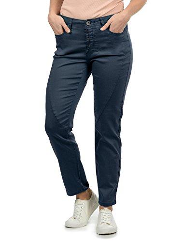 DESIRES Elbja Damen Jeans Denim Hose Boyfriend-Jeans Aus Stretch-Material Loose Fit, Größe:34, Farbe:Insignia Blue (1991)