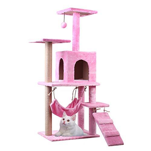 Cat Nest Villa Gato Columpio Gato con Hilo De Nido Gato Pequeño Columpio Gato Un Estante para Gatos Pequeño Columpio Gato Juguete Cat Paradise Pink