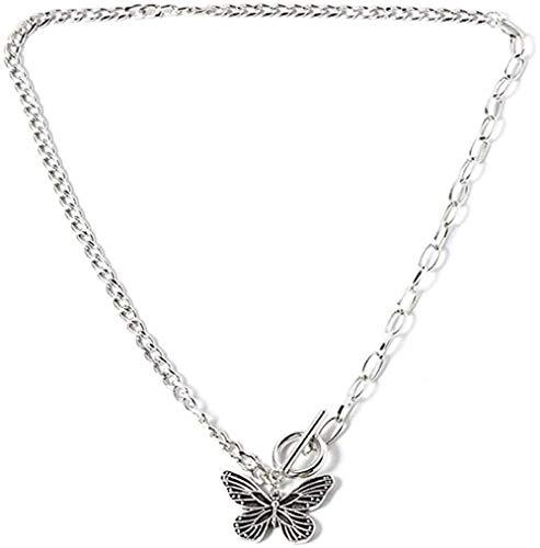 BACKZY MXJP Collar Pequeño Animal Mariposa Estrellas Collares Pendientes para Mujer Venta Plata Color Clavícula Cadena Collares Accesorios De Joyería