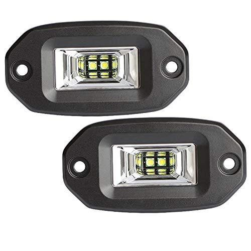 4 pouces LED travail lumière 12v voiture barre lumineuse 20W accessoires de voiture hors route lumière crue IP68 6000K blanc SUV ATV, 2PCS