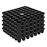 Black color tray 49 hole tray 5 trays in one pack Size of one tray : 26cm x 28cm x 3.8cm All pictures shown are for illustration purpose only actual product may vary due to product enhancement