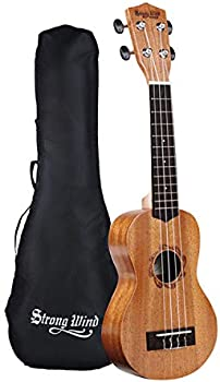 Strong Wind Mahogany Soprano Ukulele for Beginners With Bag
