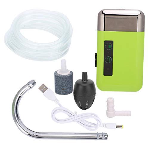 01 Bomba de oxígeno, Carga USB 3 Modos Bomba de oxígeno Que detecta el Bombeo de Agua con 3 Luces LED para Bombeo de Agua, oxigenación, iluminación