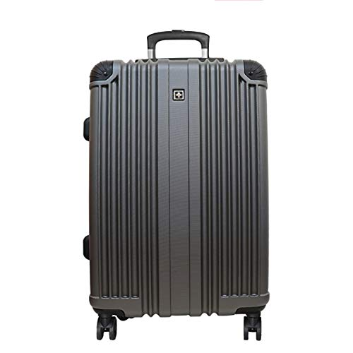 MINGXING,Expandable luggage Hard luggage with four universal wheels,multilayer PC thickened material,trolley case with double net pockets,Enlarged capacity,scratch-resistant,lightweight design