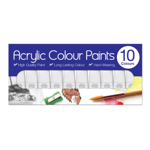 Artbox 6ml Acrylic Paints Tubes (Pack of 10)