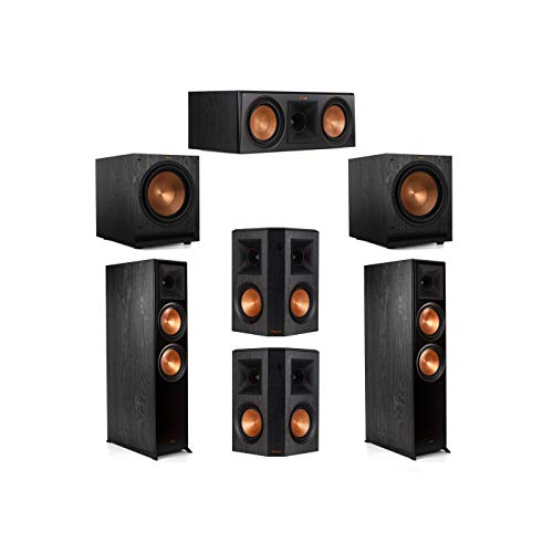 For Sale! Klipsch 5.2 System with 2 RP-8000F Floorstanding Speakers, 1 Klipsch RP-600C Center Speake...