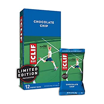 CLIF BARS - Energy Bars - Chocolate Chip - Made with Organic Oats - Plant Based Food - Vegetarian - Kosher  2.4 Ounce Protein Bars 12 Count  Packaging May Vary