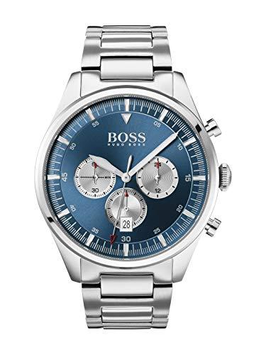Hugo Boss Herren Chronograph Quartz Uhr mit Edelstahl Armband 1513713