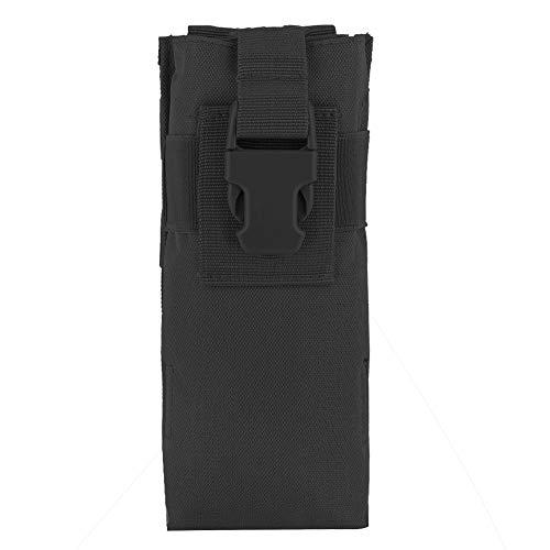 TANKE Bolsa de almacenamiento de interfono de botella de agua militar ligera de nylon para Molle Syste (negro) 20 X 8.5 X 6cm