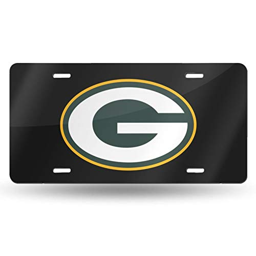 Kangmei Green Bay American Football P-ack-ers Aluminum Novelty License Plate 6 X 12 Inch (4 Holes)