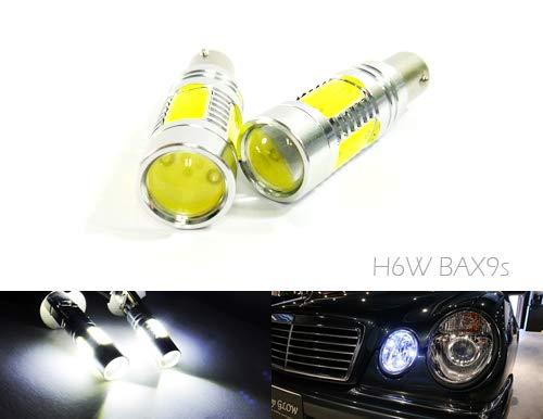 2 x ampoules à baïonnette H6W 434 BAX9s LED plasma clignotant latéral clignotant arrière arrière feux de circulation diurne DRL