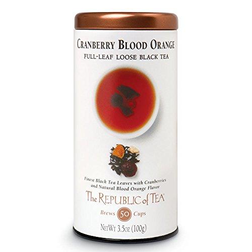The Republic of Tea Black Full-Leaf Loose Tea (Cranberry Blood Orange Black, 3.5 oz)