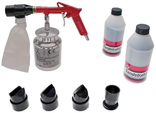 Kraftmann 3650 | Druckluft-Sandstrahlpistole inkl. Zubehör