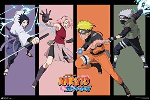 Naruto Team 7 Anime Poster 36x24 inch