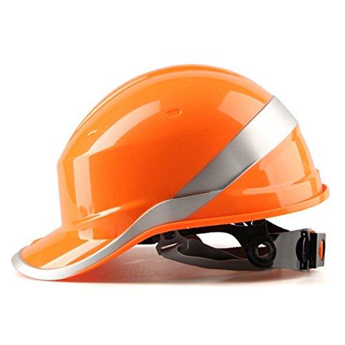MASUNN Diamond V Duro Sombreros Seguridad Trabajo 8 Punto Ventilado Construcción Trinquete Cascos Nuevo-Naranja