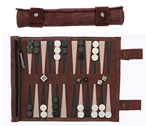 Sondergut - Backgammon da viaggio, in vera pelle