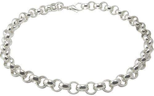 Erbscollier hochwertige Goldschmiede Qualität (Sterling Silber 925) 12 mm Stärke, Erbskette, Silber Kette, Damenkette, Herrenkette