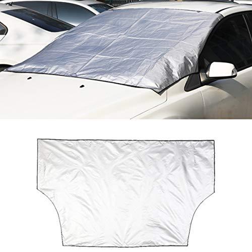 Dibiao Auto Windschutzscheibenabdeckung Magnetisch Langlebig Auto Frontscheibe Sonnenschutz Schneeschutz Faltbar Anti-Dunst Frostschutz (Schwarz + Silber)