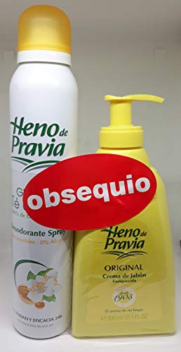 HENO DE PRAVIA DEO GLICERINA SPRAY 200 ml + JABÓN DOSIFICADOR ORIGINAL 300 ml