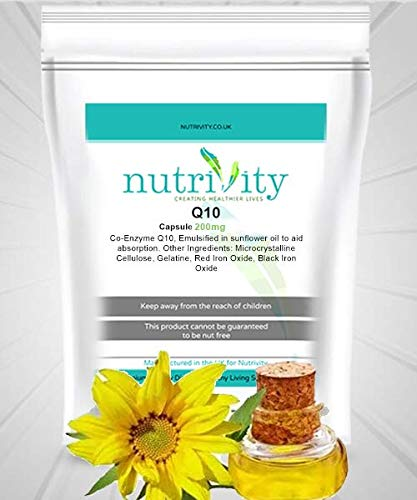 Vitamins Q10 200mg Capsules by Nutrivity (240)