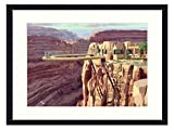 Asommet The Grand Canyon Skywalk - Solid Wood Framed Wall Art Print Picture Home Decor (20x14 inches)