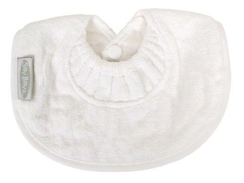 Silly Billyz Bavoir Mini Coton Velours avec Col Anti Fuite - Dès la Naissance - Blanc