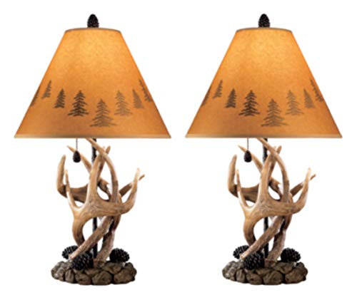Hot Sale Ashley L316984 Antlers Table Lamps, Set of 2