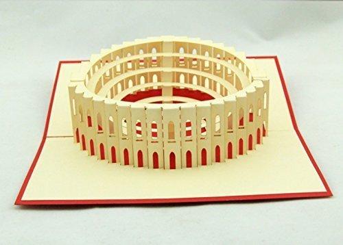 BC Worldwide Ltd Tarjeta emergente 3D hecha a mano Italia Roma Coliseo...