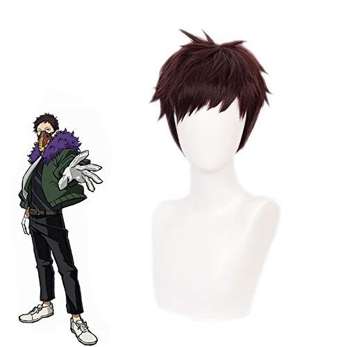 My Hero Academia Overhaul Chisaki Kai peluca corta Cosplay disfraz Boku No Hero Academia pelucas de pelo sintético resistentes al calor Pelucas