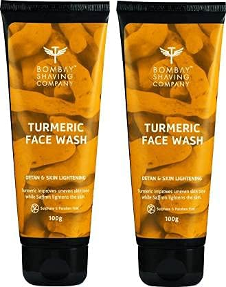Bombay Shaving Company Turmeric Face Wash for Men & Women (Pack of 2)- Tan Removal & Even Skin Tone | Made in India