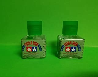 2 Pack TAMIYA 87038 Extra Thin Cement Glue FINE TIP 40ML