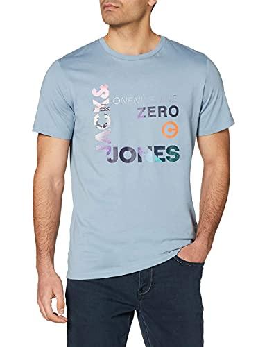 JACK & JONES T-shirt Jjspring Feeling Tee Ss Crew Neck pour homme, bleu, L