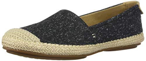 Sperry womens Sunset Skimmer Linen Loafer, Black, 9 US