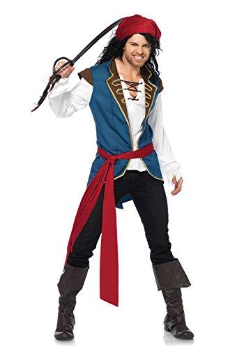 Leg Avenue Piratenkostuum voor heren, pirate scoundrel M-L multicolor