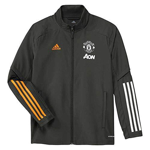 adidas Manchester United Temporada 2020/21 MUFC PRE JKTY Chaqueta presentación, Unisex, tieley, 128