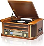 Best Vintage Record Players - MUSITREND Vinyl Record Player 8 in 1 3 Review