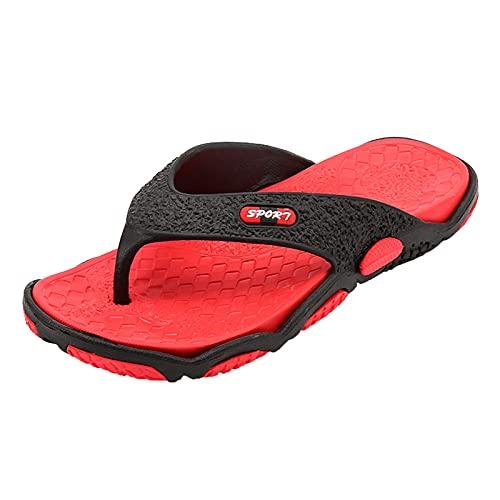 MGW Uomo Infradito Estate Adulto Flip Flops Scarpe da Spiaggia Scarpe da Piscina Adatto per Vacanze Spiaggia Piscina Beach Passeggiate Viaggi Nuoto Bagno Spa,Rosso,EU41/US8/UK7