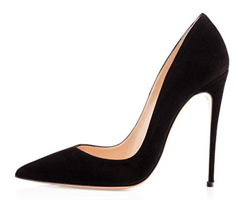 EDEFS Sexy Zapatos de Tacón Alto Mujer 12cm Tamaño 35-45 Blanco EU43