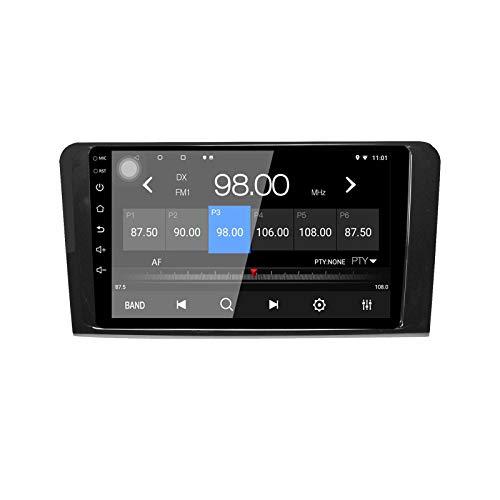 EZoneTronics 9 pollici 2 DIN Android 10.1 Autoradio Stereo adatto per Mercedes Benz ML GL W164 Touch Screen Navigazione GPS ad con BT USB WIFI AM/FM/RDS SWC Mirror Link Player 2G RAM + 32G ROM