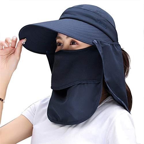 Zon Vrouwen zonnebescherming hoed zomer outdoor schaduw cover gezichtsverzorging nek anti-UV Gr ?? e rand vouwt sudaijins