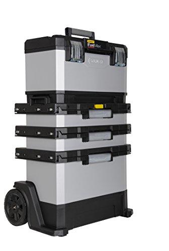 Stanley FatMax Rollende Werkstatt aus Metall-Kunststoff 1-95-622 – Werkzeugwagen leer – Vielseitige Werkzeugbox für Kleinteile und große Werkzeuge - 2