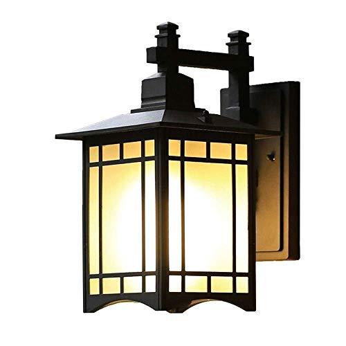 WZXCAP Außenaluminiumdruckguss Wand-Laterne-Lampe IP54 wasserdichter Außenplatz Terrasse Garten Balkon Korridor Aisle Glaswand-Leuchter-Licht E27 Fixture Lightings