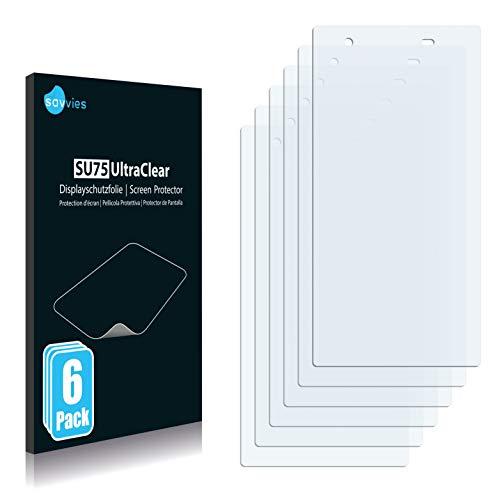 Savvies 6X Schutzfolie kompatibel mit Sony Xperia Z1s Bildschirmschutz-Folie Ultra-transparent