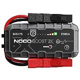 NOCO Boost X GBX75, 2500A 12V UltraSafe Arrancador de Litio, Bateria Booster Profesional, Cargador Powerbank y Cables de Arranque de Coche por Gasolina de hasta 8.5 litros y Diésel de 6.5 litros