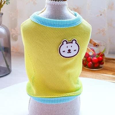 Ropa para Perros Camiseta de Verano para Gatos Camiseta sin Mangas con Capucha Camiseta sin Mangas para Perros pequeños y medianos con Mangas Cortas A3 M