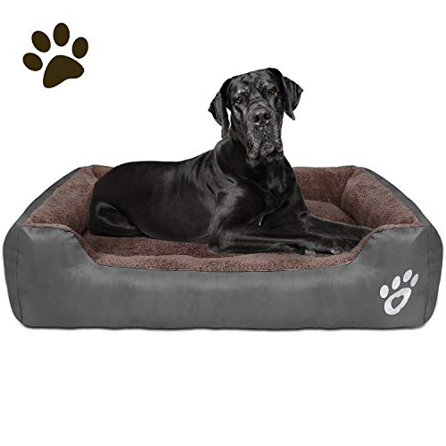 CLOUDZONE Dog Bed Machine Washable Rectangle Breathable Soft PP fiberwith Nonskid Bottom Extra Large Pet Bed for Medium and Large Dogs or Multiple