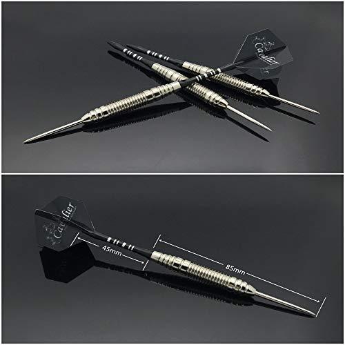 GQDP Dartpfeile [1 Box 3 Sticks] Dartpfeile Needle Dartbox Dartset Dartpfeile Dartset Dartpfeile Leaves, Herren, White-Headed Black Pole, 162MM