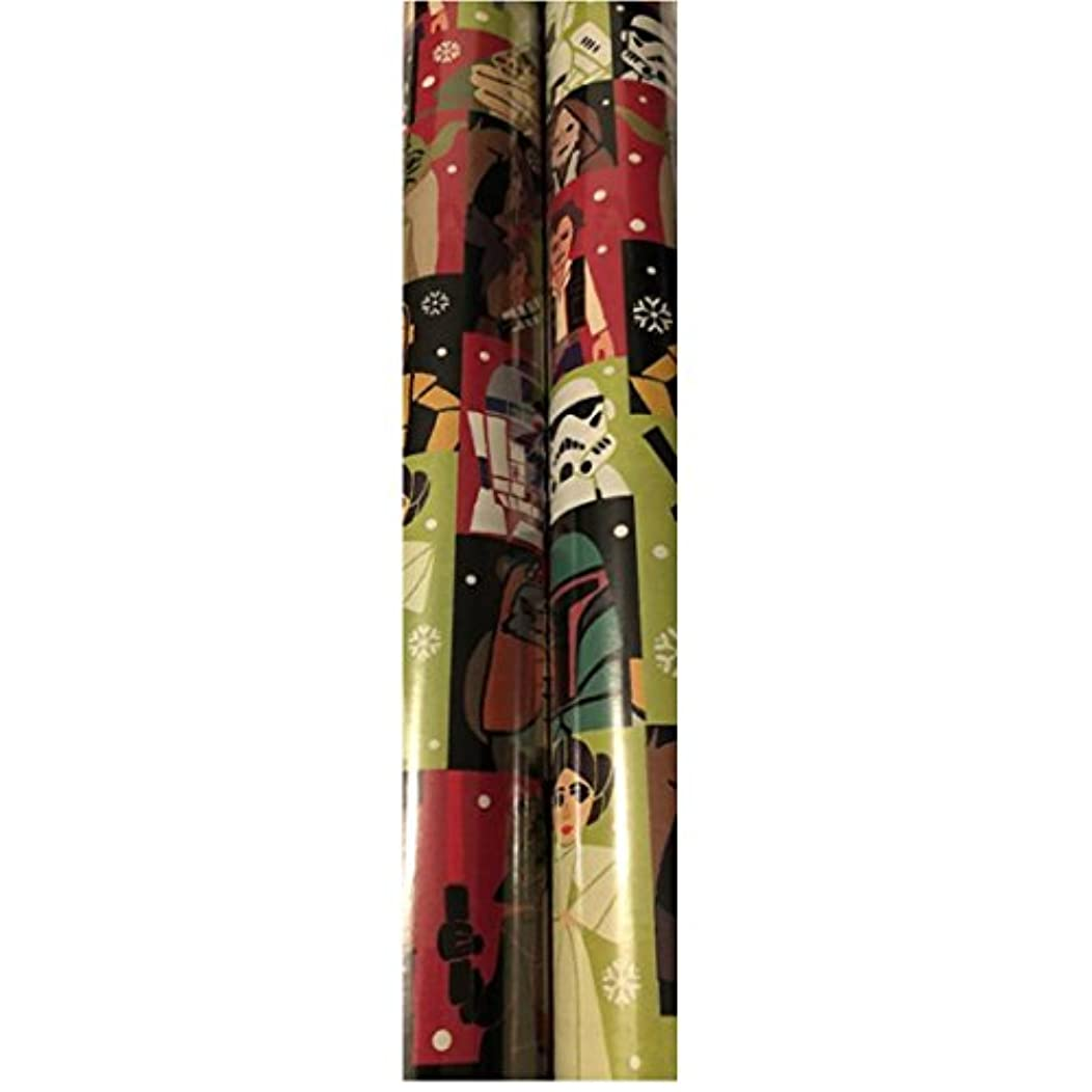 Star Wars Holiday Gift Wrapping Paper- 40 sq ft