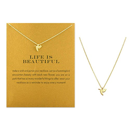 Schlüsselbein Halskette mit Segen Karte, Dainty Anhänger, zart und Klassischen Kostüm Choker Jewelry, Gastgeschenken Legierung Woodpecker gold